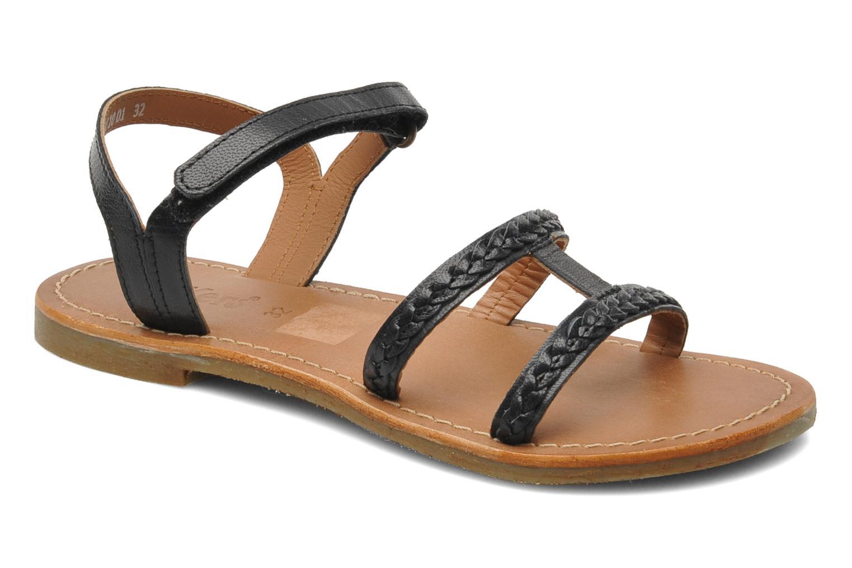 Sandales et nu-pieds Kickers Djerry V Noir vue détail/paire