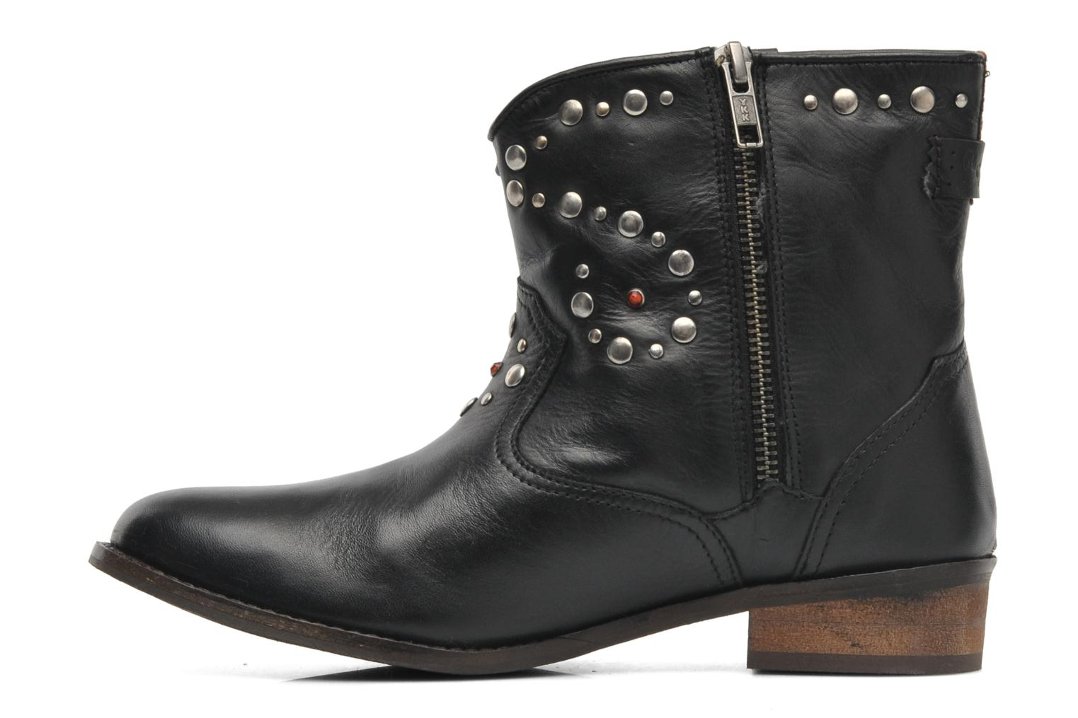 Ankle boots Pepe jeans BOWIE STUDS Black front view
