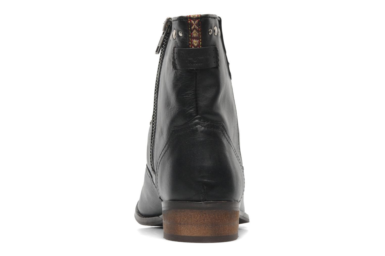 Boots en enkellaarsjes Pepe jeans BOWIE STUDS Zwart rechts