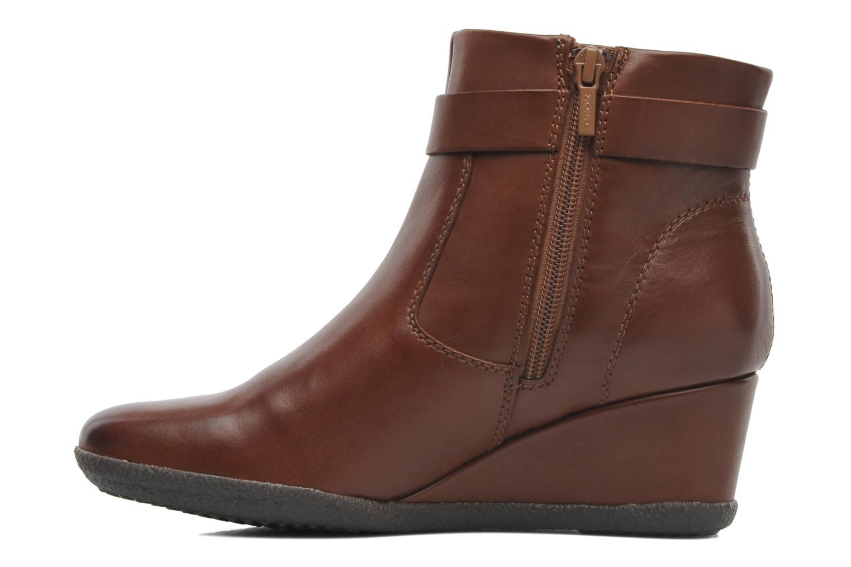 Boots en enkellaarsjes Geox D AMELIA ST A D4479A Bruin voorkant