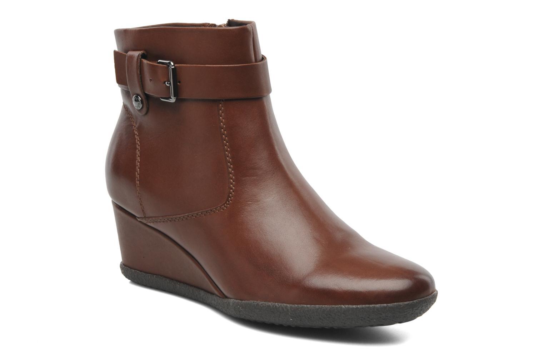Boots en enkellaarsjes Geox D AMELIA ST A D4479A Bruin detail