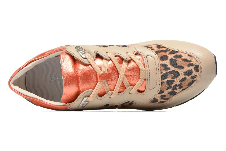 Sneaker Geox D SHAHIRA A D44N1A beige ansicht von links