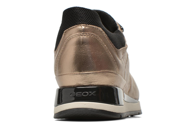 Sneakers Geox D SHAHIRA A D44N1A Bronze och Guld Bild från höger sidan