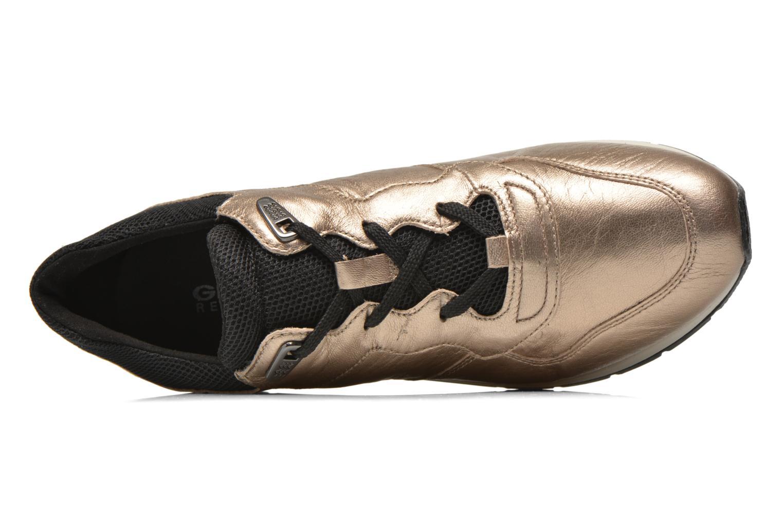 Sneakers Geox D SHAHIRA A D44N1A Bronze och Guld bild från vänster sidan