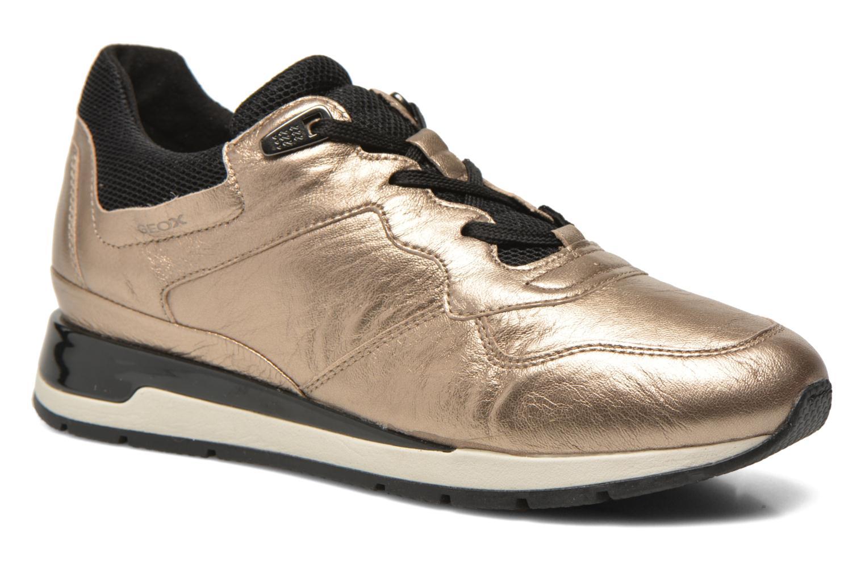 Sneakers Geox D SHAHIRA A D44N1A Guld og bronze detaljeret billede af skoene