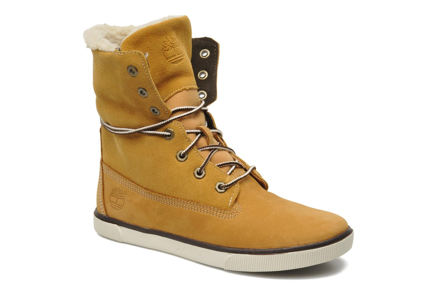 Bottines et boots Timberland EK Roll TOP Beige vue 3/4