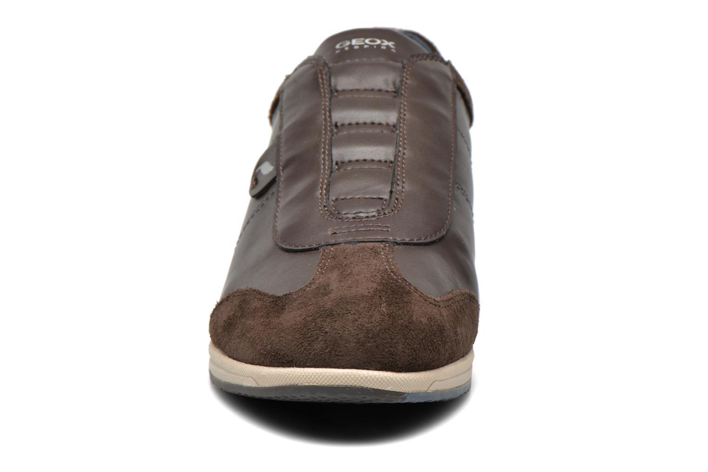 Sneaker Geox D AVERY C D44H5C braun schuhe getragen