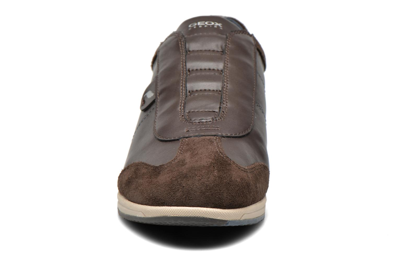 Baskets Geox D AVERY C D44H5C Marron vue portées chaussures