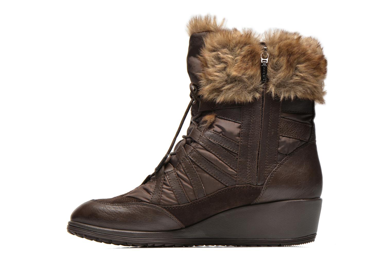 Boots en enkellaarsjes Geox D HENNIE B D44Y3B Bruin voorkant
