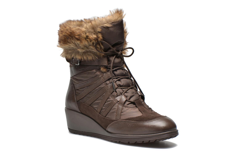 Boots en enkellaarsjes Geox D HENNIE B D44Y3B Bruin detail