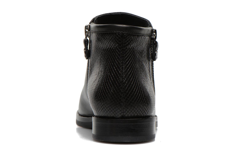 Boots en enkellaarsjes Geox D PROMETHEA F D44R3F Zwart rechts