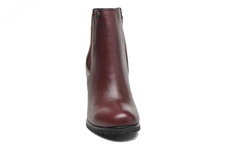 Stiefeletten & Boots Geox D TRISH ABX B D44Y1B weinrot schuhe getragen