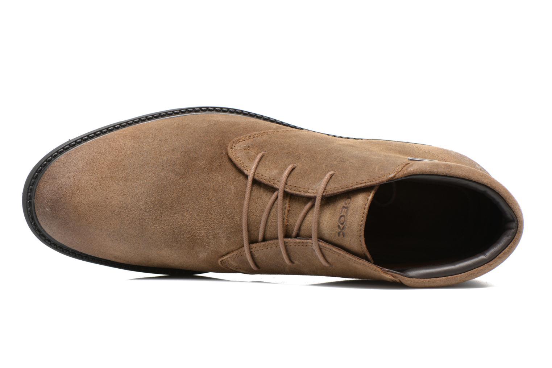 Chaussures à lacets Geox U RUBBIANO B U44Z8D Beige vue gauche