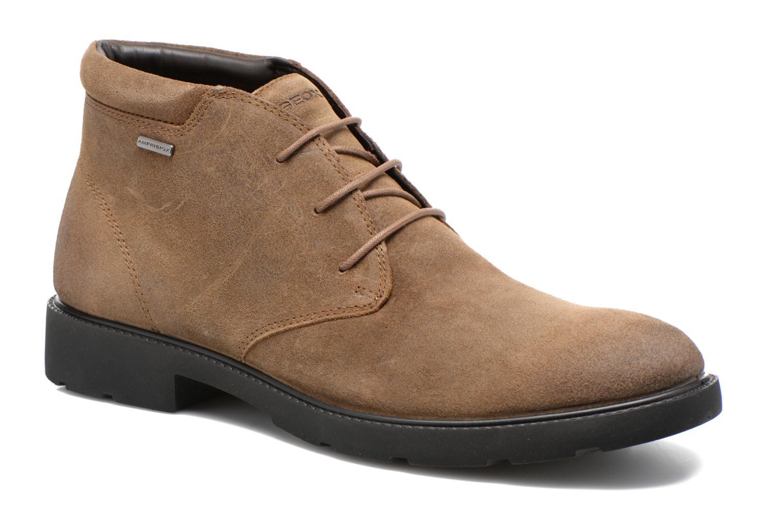 Chaussures à lacets Geox U RUBBIANO B U44Z8D Beige vue détail/paire