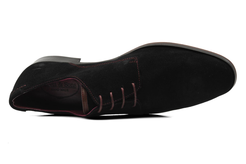 Snörade skor Brett & Sons Bari Svart bild från vänster sidan