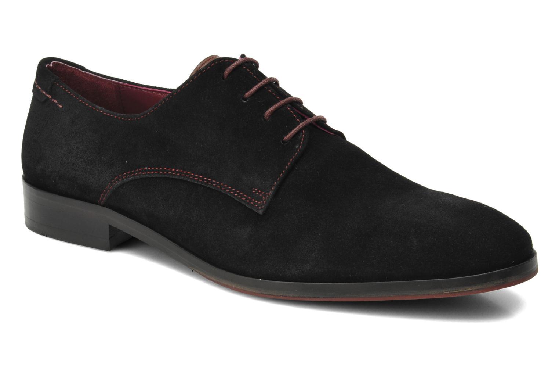 Snörade skor Brett & Sons Bari Svart detaljerad bild på paret
