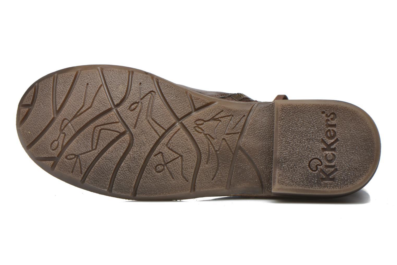 Bottines et boots Kickers Groove Soft Marron vue haut