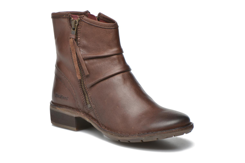 Bottines et boots Kickers Groove Soft Marron vue détail/paire