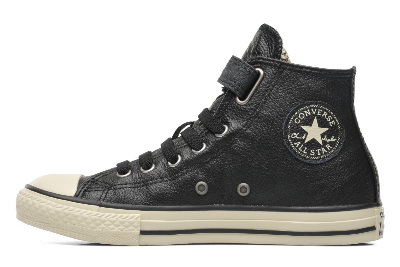 Sneakers Converse Chuck Taylor All Star Strap Hi Zwart voorkant