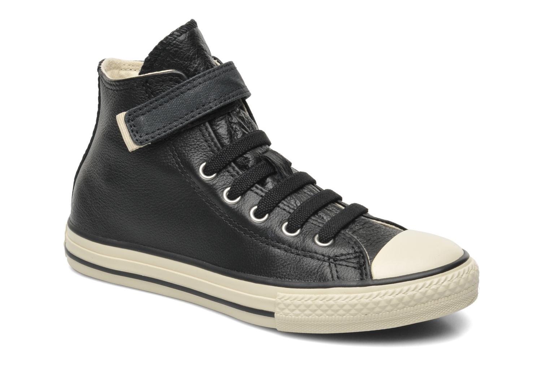 Sneakers Converse Chuck Taylor All Star Strap Hi Zwart detail