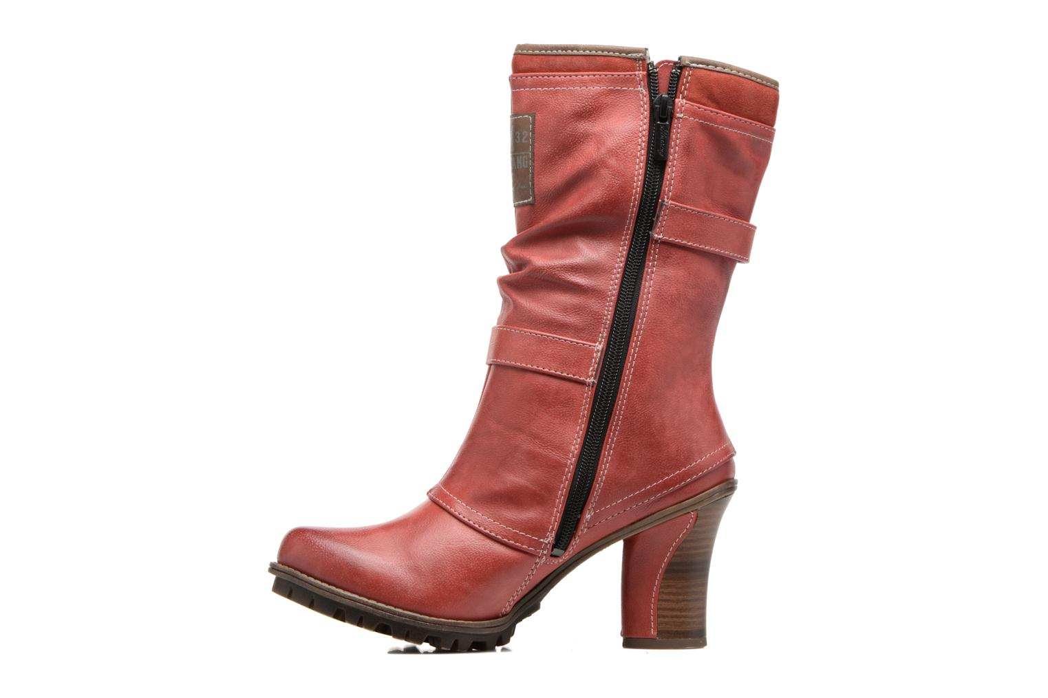 Ankle boots Mustang shoes Lazlo Red front view