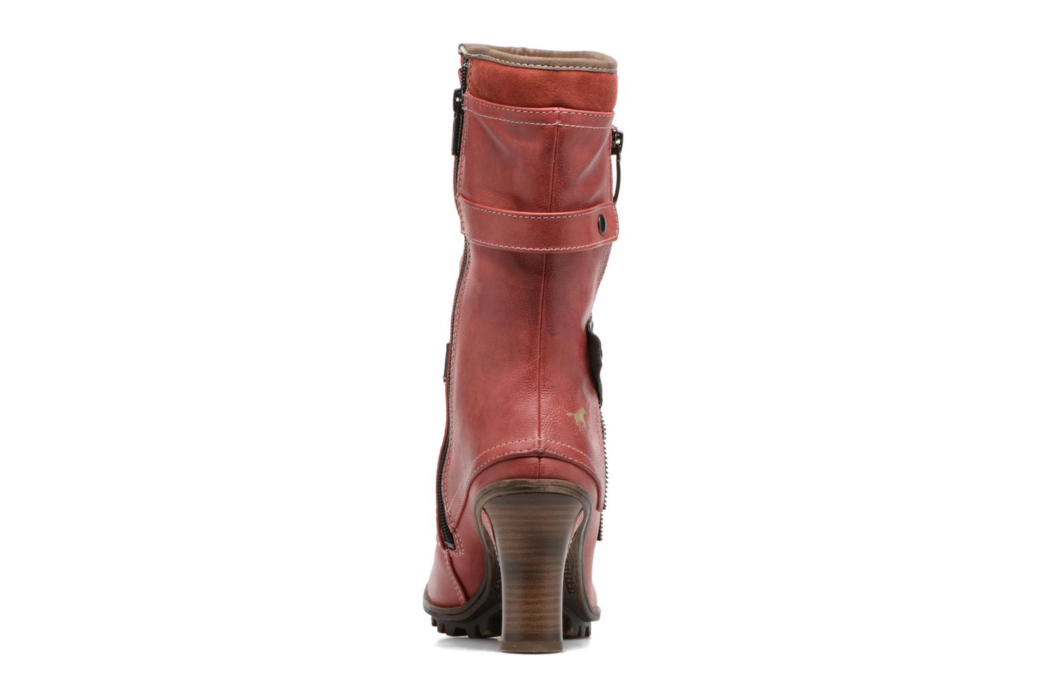 Ankle boots Mustang shoes Lazlo Red view from the right
