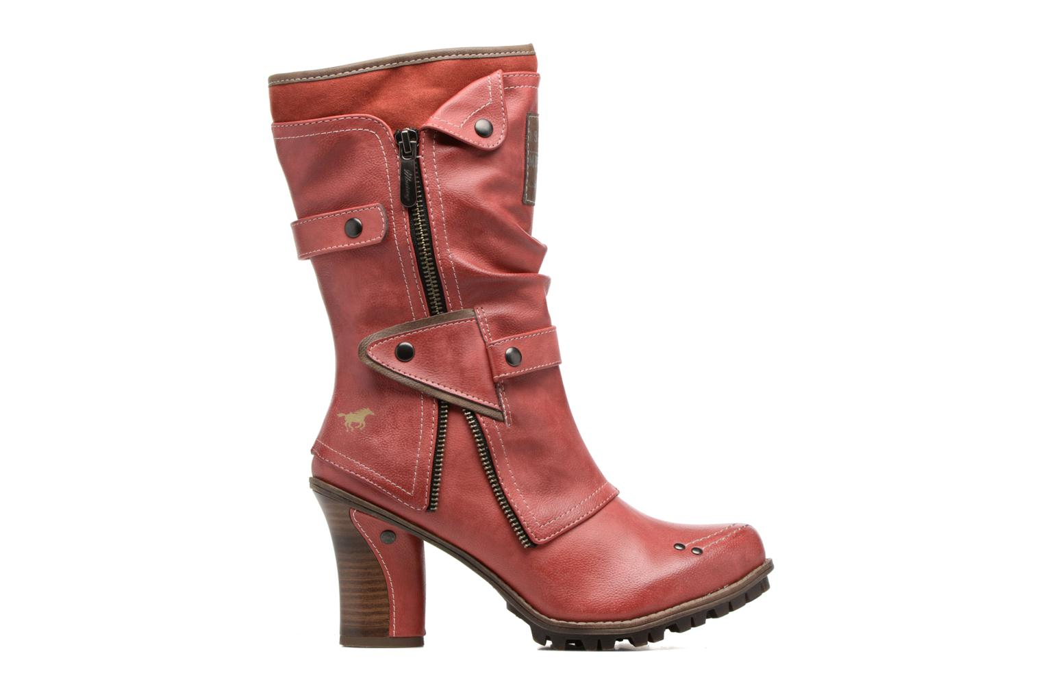 Ankle boots Mustang shoes Lazlo Red back view