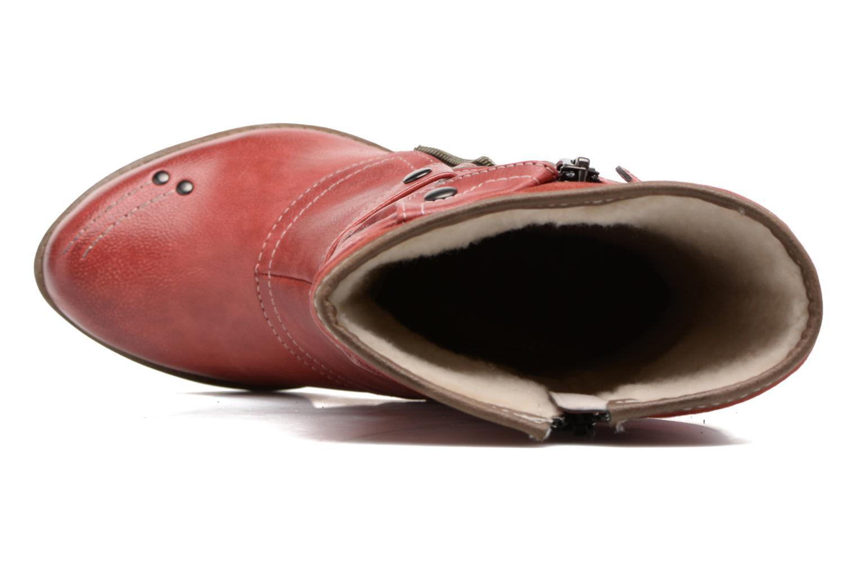 Bottines et boots Mustang shoes Lazlo Rouge vue gauche