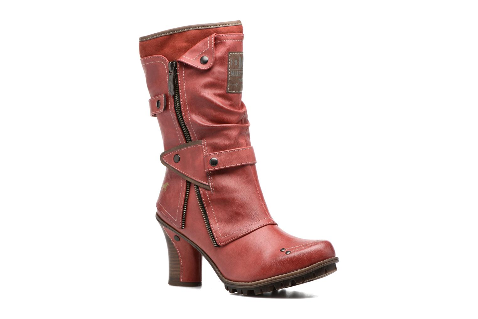 Ankle boots Mustang shoes Lazlo Red detailed view/ Pair view