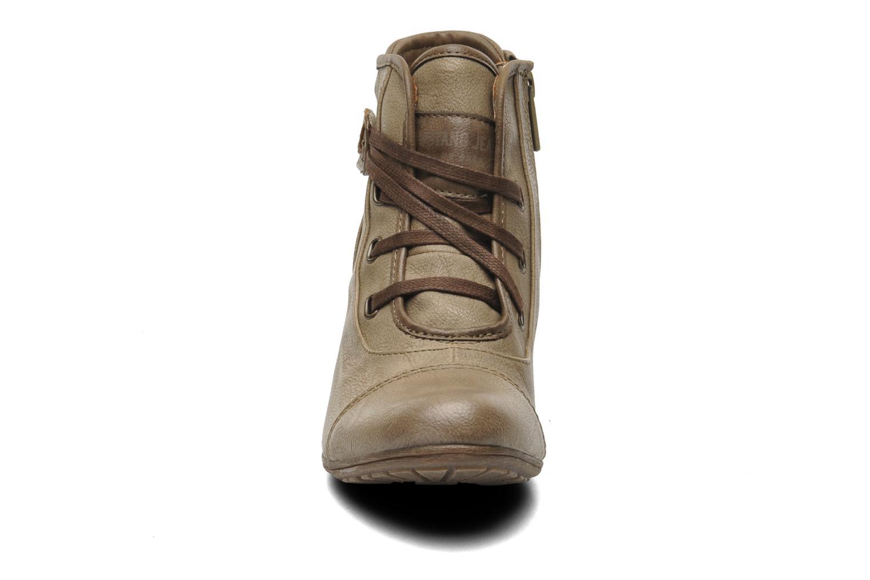 Bottines et boots Mustang shoes Ibline Beige vue portées chaussures