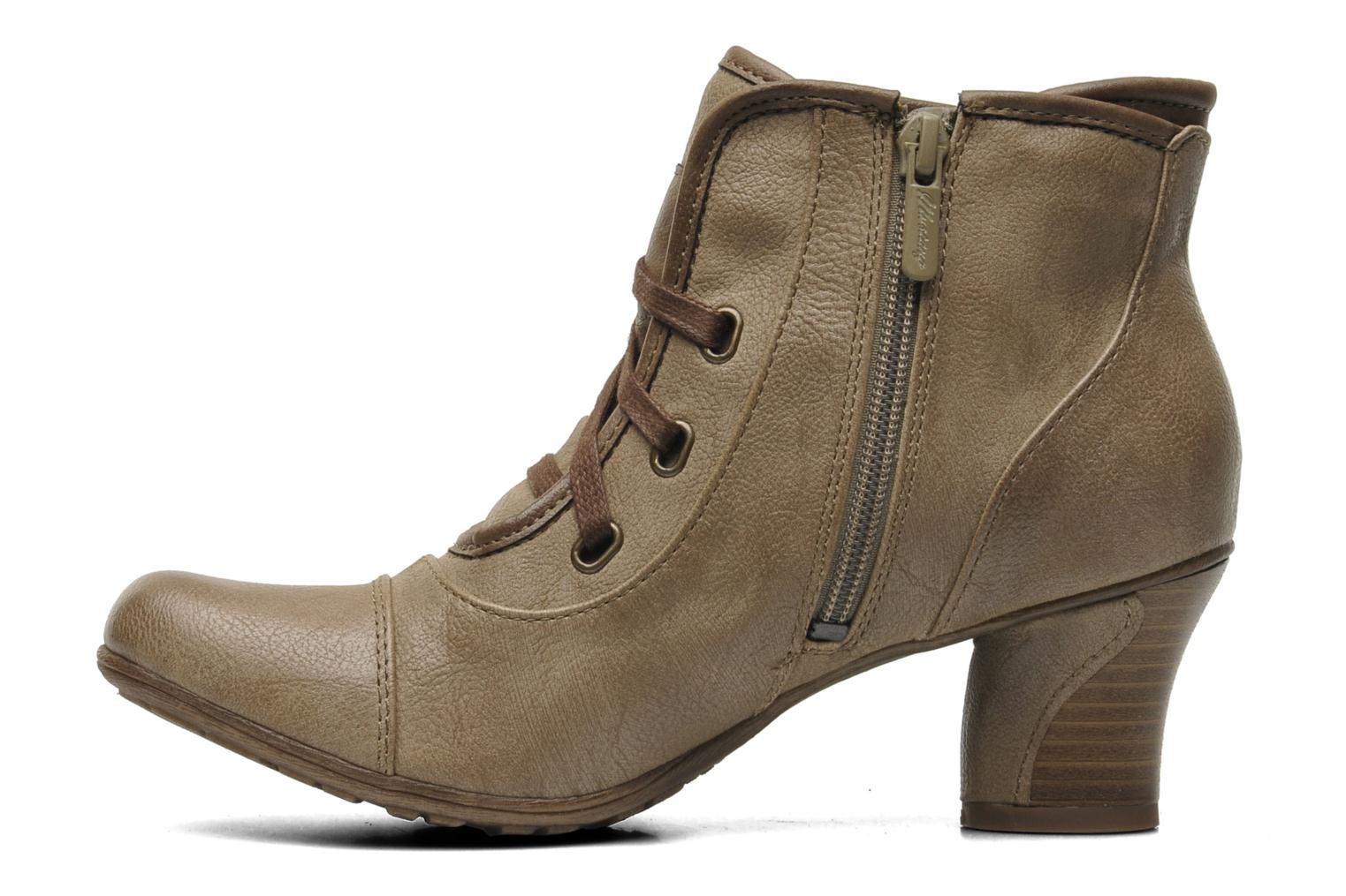 Ankle boots Mustang shoes Ibline Beige front view