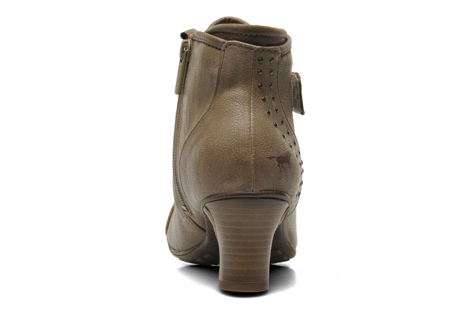 Ankle boots Mustang shoes Ibline Beige view from the right