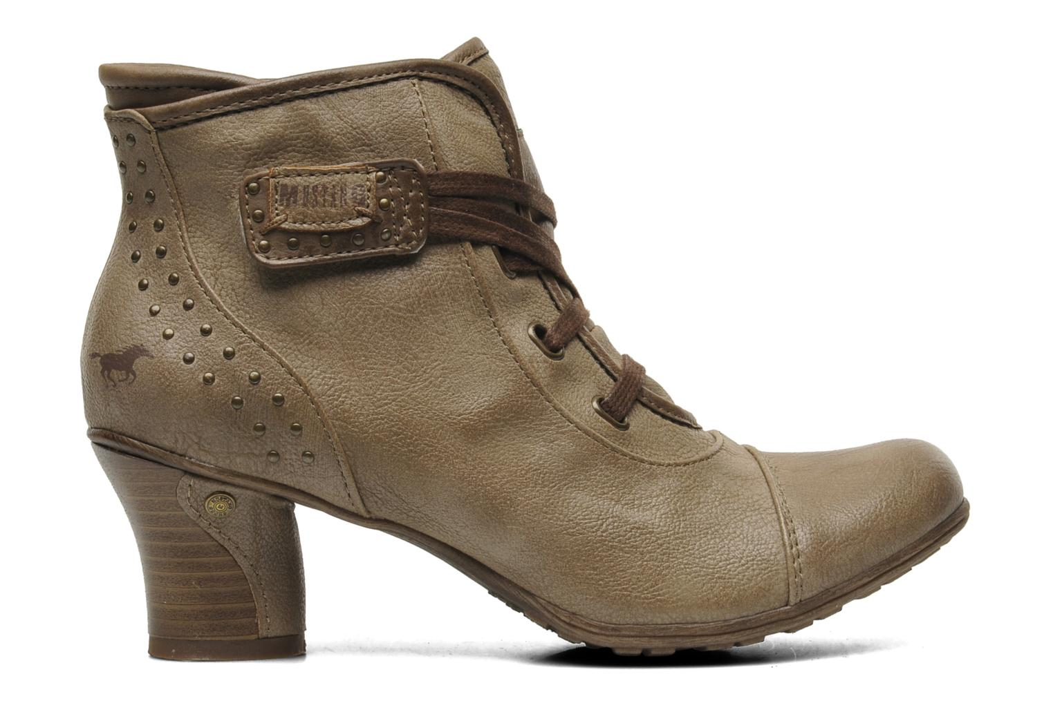 Ankle boots Mustang shoes Ibline Beige back view