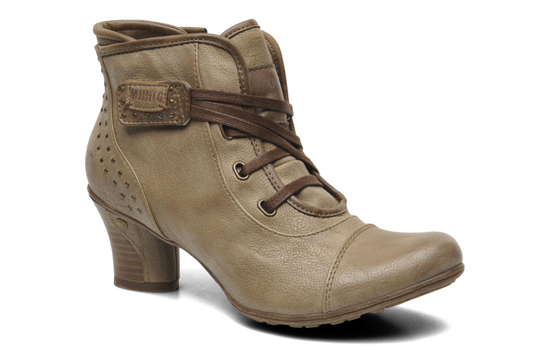 Bottines et boots Mustang shoes Ibline Beige vue détail/paire