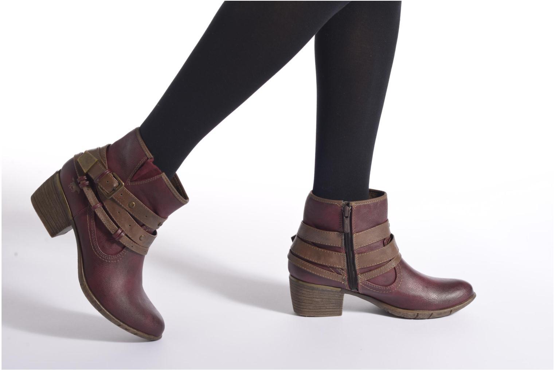 Bottines et boots Mustang shoes Heïra Bordeaux vue bas / vue portée sac