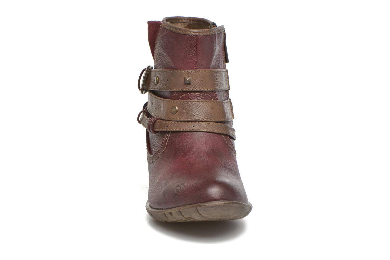 Bottines et boots Mustang shoes Heïra Bordeaux vue portées chaussures