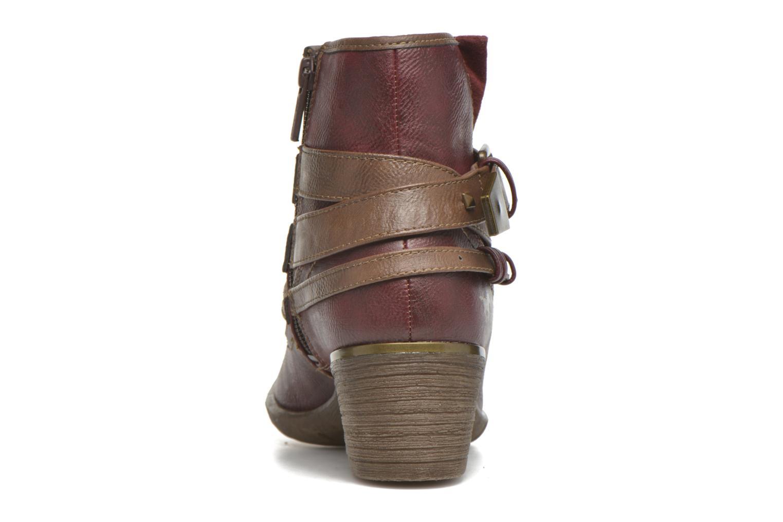 Bottines et boots Mustang shoes Heïra Bordeaux vue droite