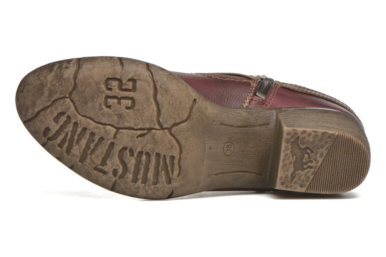 Bottines et boots Mustang shoes Heïra Bordeaux vue haut