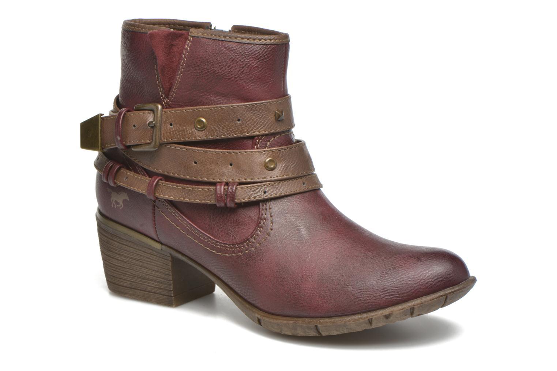 Bottines et boots Mustang shoes Heïra Bordeaux vue détail/paire