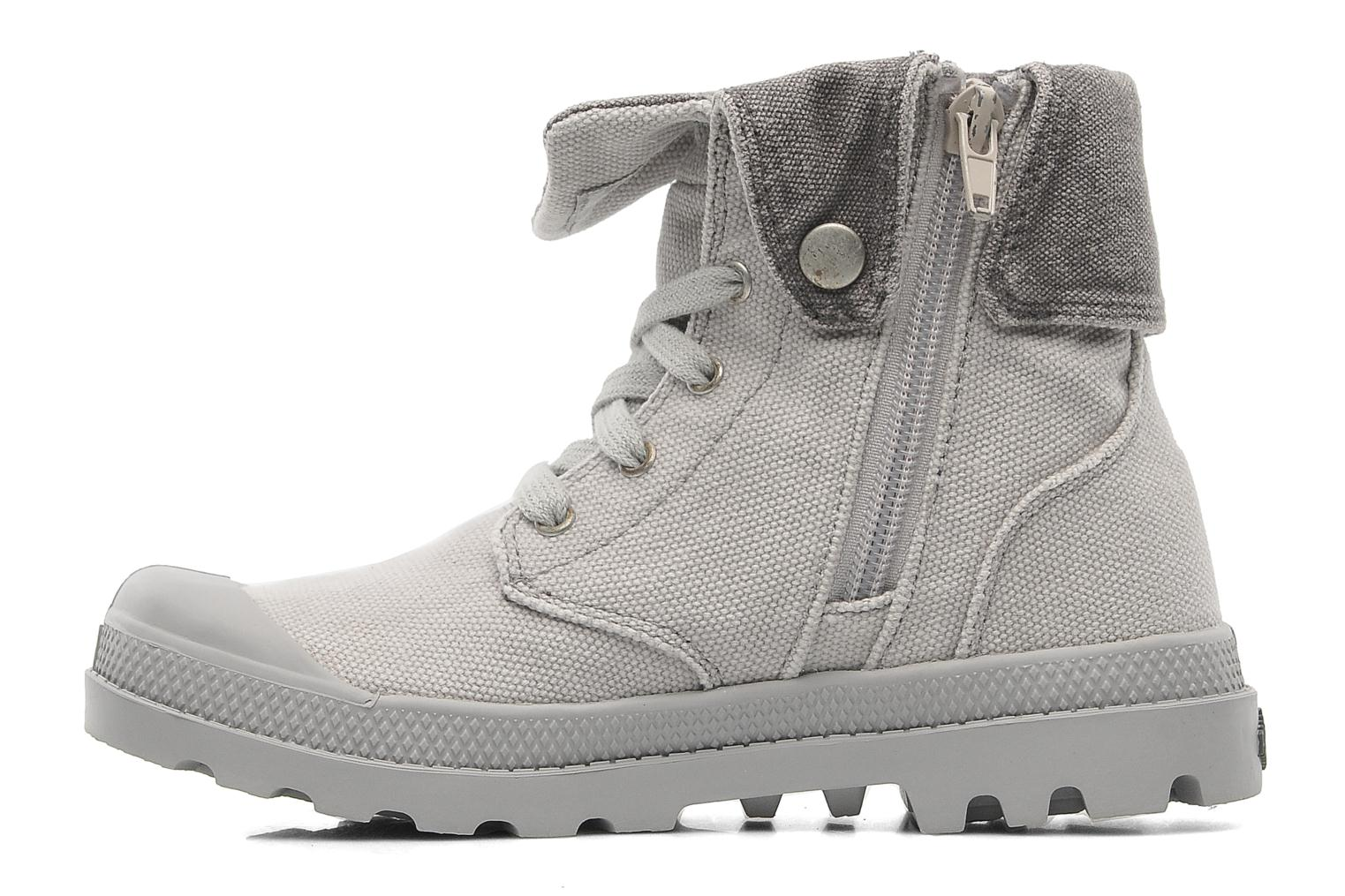Bottines et boots Palladium Baggy Zipper K Gris vue face