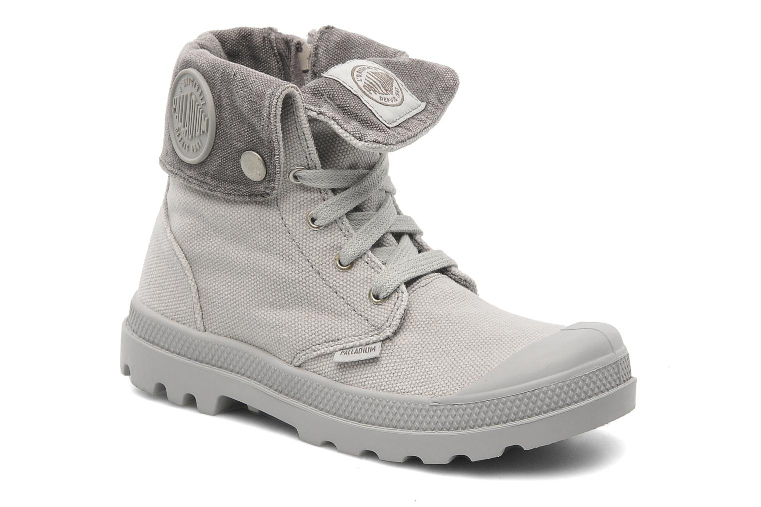 Bottines et boots Palladium Baggy Zipper K Gris vue détail/paire