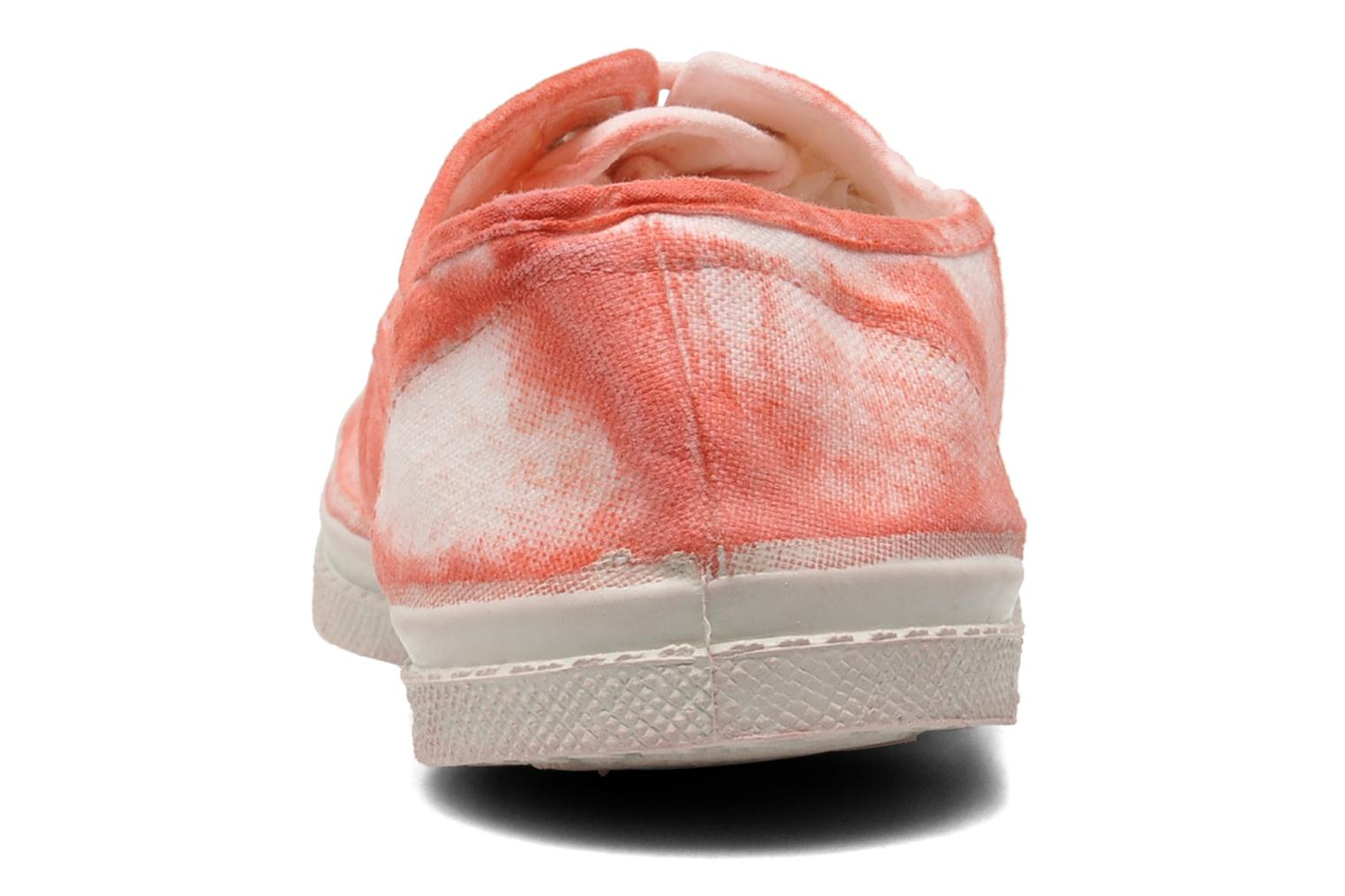 Trainers Bensimon Tennis Nuage Red view from the right