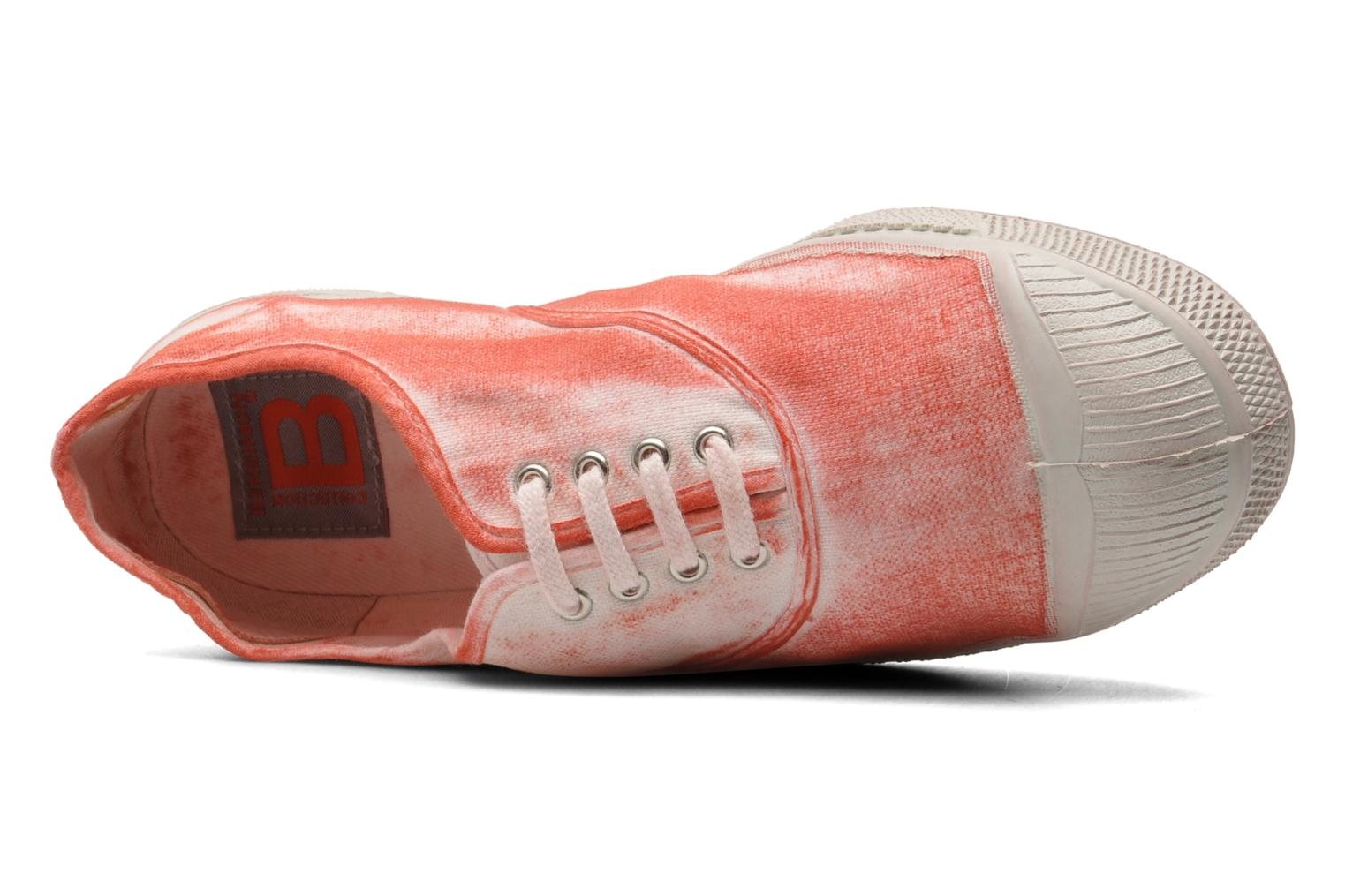 Trainers Bensimon Tennis Nuage Red view from the left