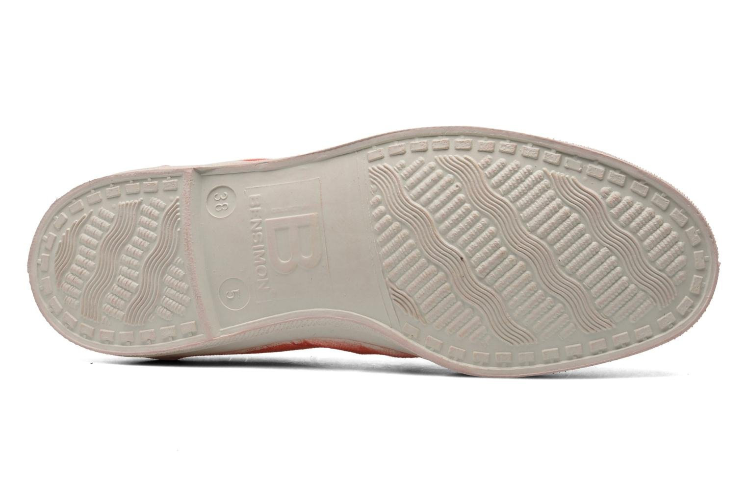 Trainers Bensimon Tennis Nuage Red view from above