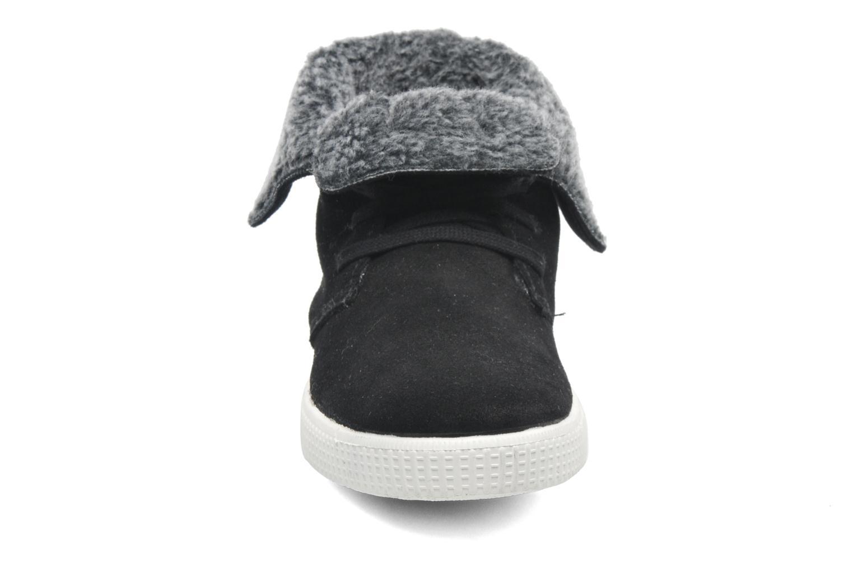 Baskets Le temps des cerises Carmel Noir vue portées chaussures