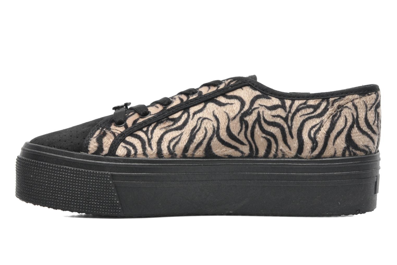 Sneakers Le temps des cerises Jump Low Mono Zwart voorkant