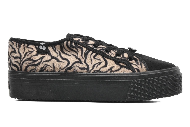 Sneakers Le temps des cerises Jump Low Mono Zwart achterkant