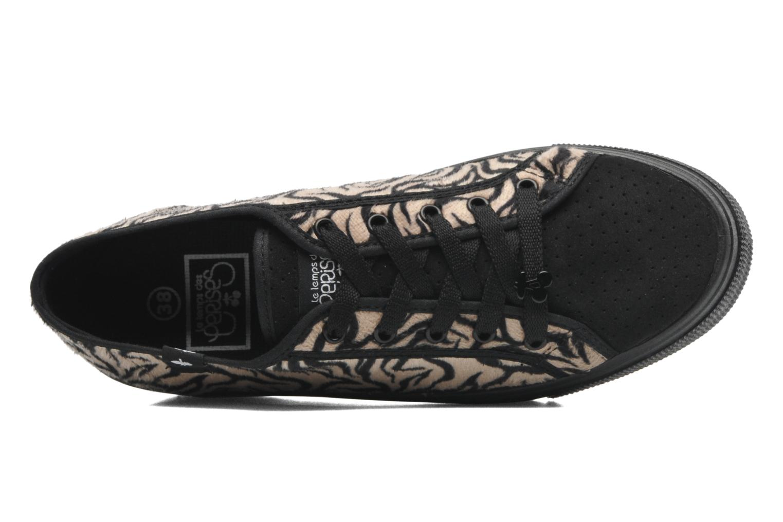 Sneakers Le temps des cerises Jump Low Mono Zwart links