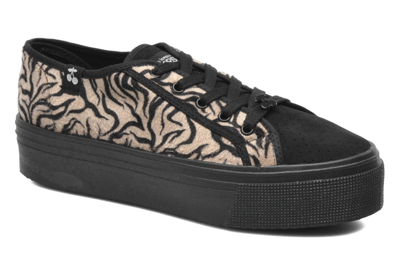 Sneakers Le temps des cerises Jump Low Mono Zwart detail
