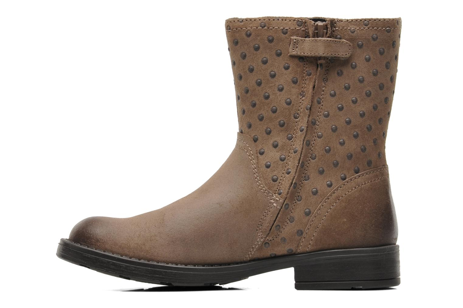 Ankle boots Geox JR SOFIA A Beige front view
